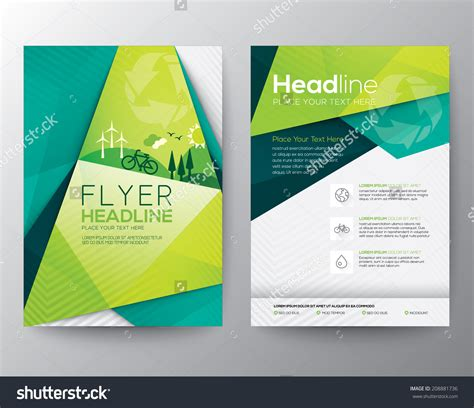 templates flyer abstract triangle brochure flyer design vector template in