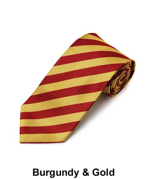 absolute ties burgundy gold 1 2 quot stripe ties from