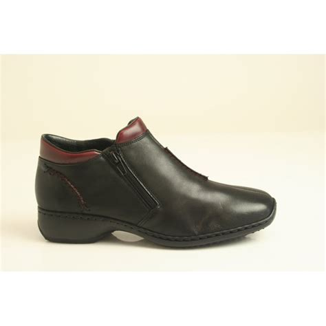 rieker rieker black leather high cut shoe with