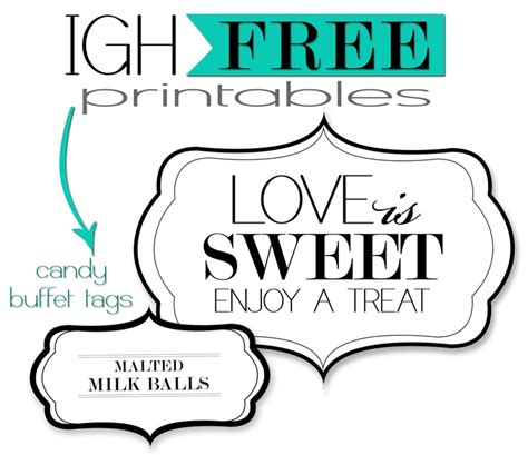 7 Best Images Of Candy Buffet Template Printable Candy Buffet Sign Template Free Free Buffet Signs Templates