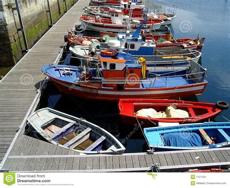 boat time in spanish colorful boats in spanish harbour stock image image 1127431