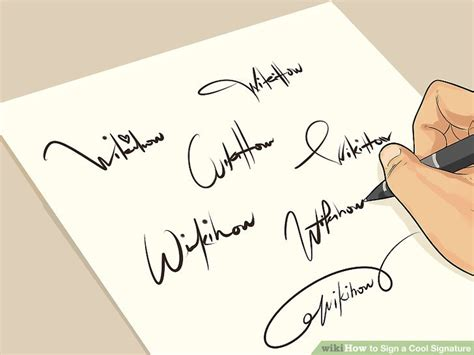 How To Make Your Own Signature On Paper - the best way to make a cool signature wikihow