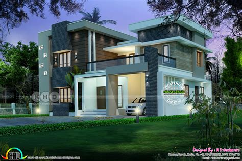 contemporary house style june 2017 kerala home design and floor plans