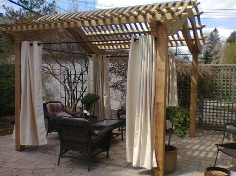 Pergola With Curtains 17 Best Images About Outdoor Spaces On Pinterest Flower Planters Backyards And Pergola Curtains