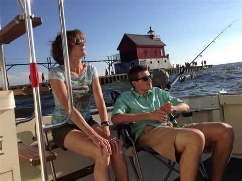 charter boat fishing grand haven grand haven charter fishing lake michigan evolution