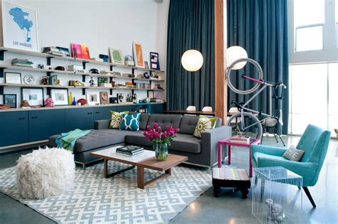 eclectic living  dining rooms  colorful accents hgtv