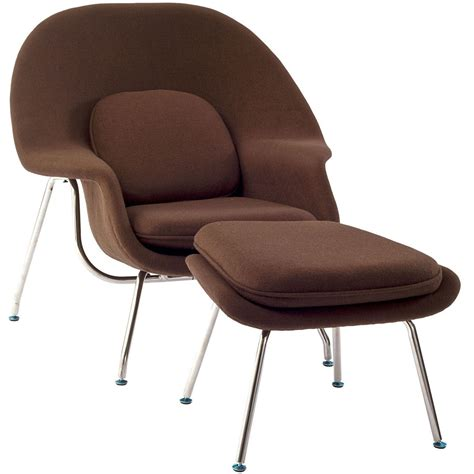 womb chair saarinen lounge ottoman modterior