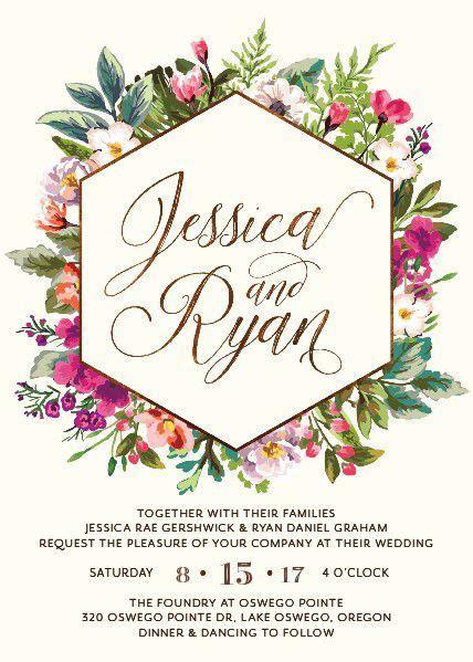flower design wedding invitation gorgeous modern floral wedding invitation garden wedding