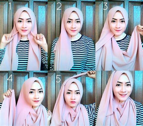 tutorial pashmina simple tutorial hijab pashmina simple untuk kuliah www imgkid