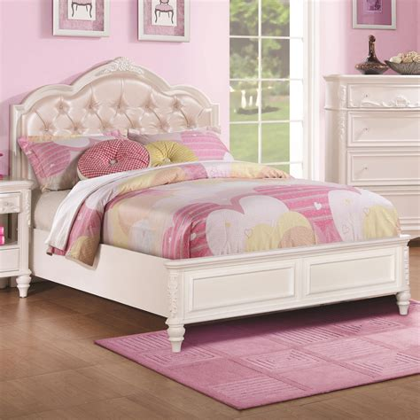 beds with tufted headboard full size bed with diamond tufted headboard by coaster