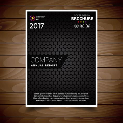 black brochure template black textured brochure design template free vector in