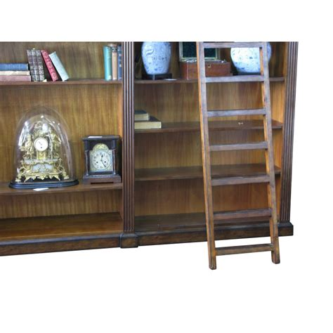 Library Style Bookcase With Ladder European Design Regency Library Bookcase With Ladder