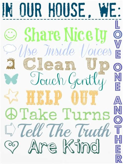 printable house rules chart the 25 best house rules chart ideas on pinterest