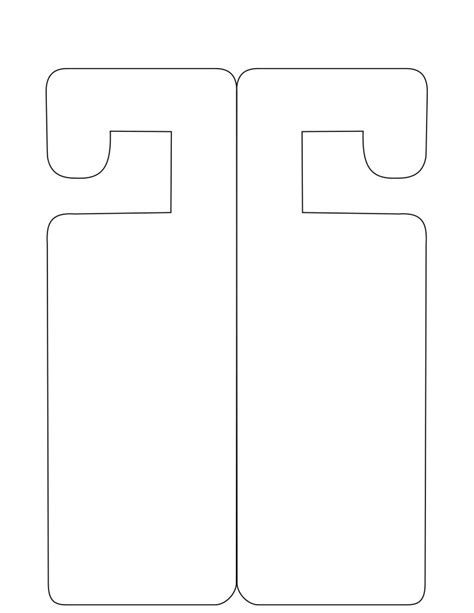 door knob template doorhanger template free to use door hangers do not