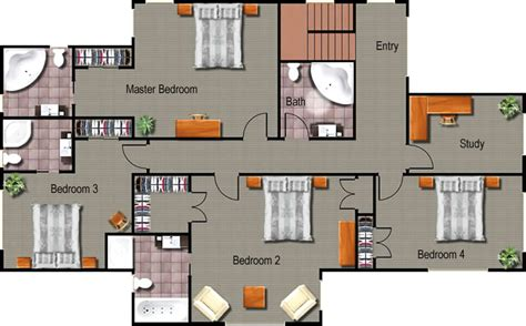 Colored Floor Plans by Floor Plans