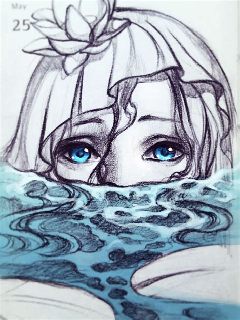 qinni sketchbook mermaid in the pond by qinni on deviantart