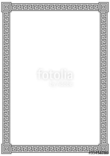greek pattern frame quot vector frame with ancient greek meander pattern quot stock