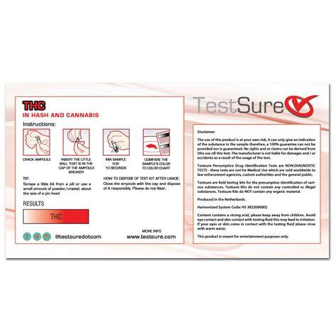 test thc thc test kit reagent field test to identify