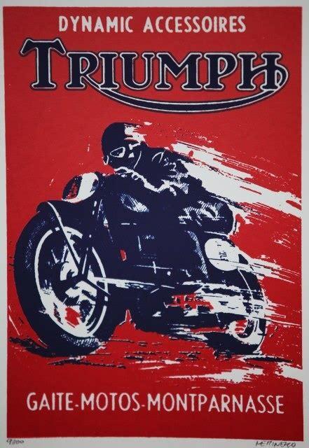 Triumph Motorrad Poster by Motorcycle Poster G E O R D I E B I K E R