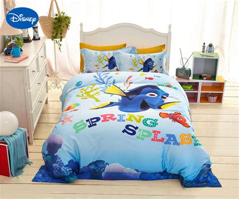 Bed Cover 120 Nemo disney finding nemo fish printed bedding for s bedroom decor silk satin bed cover