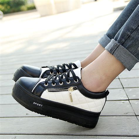korean shoes for 2014 low metal zipper muffin height