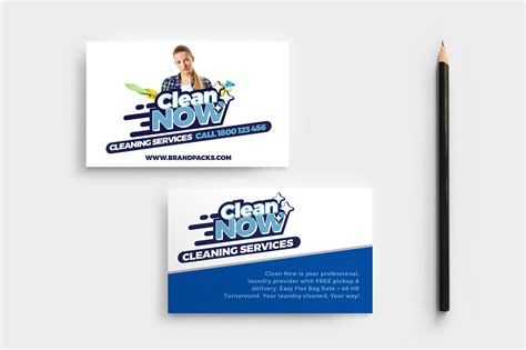 service card template cleaning service templates pack by brandpacks brandpacks