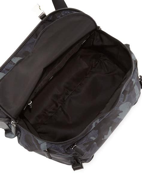Tas Lacoste Nilon Medium prada camo medium messenger bag in blue for lyst