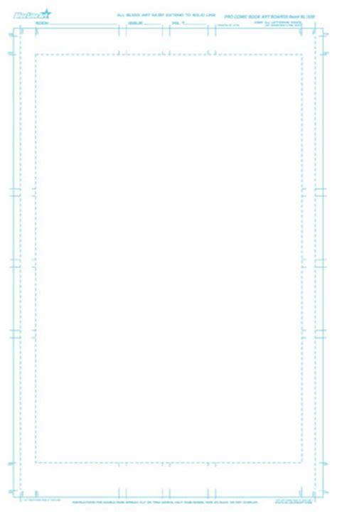Blue Line Art Premiere Pro Comic Book Template