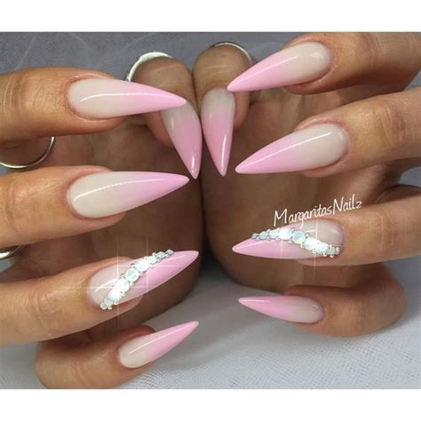 how to do ombre stiletto nail pink ombr 233 stiletto nails summer nail design makeup and