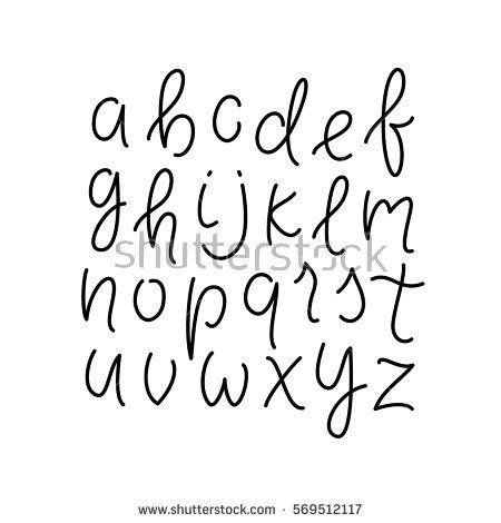 tattoo font lowercase simple line alphabet thin line lowercase typeface font