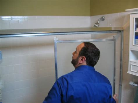 shower door removal from bathtub how to replace a shower door how tos diy