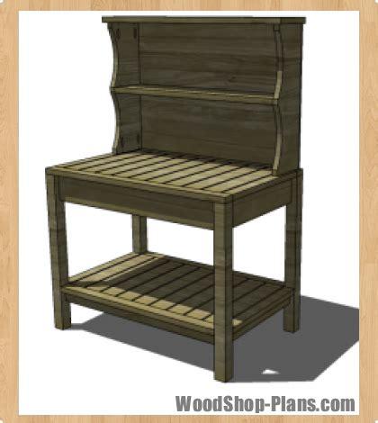 potters bench plans potters bench woodworking plans woodshop plans