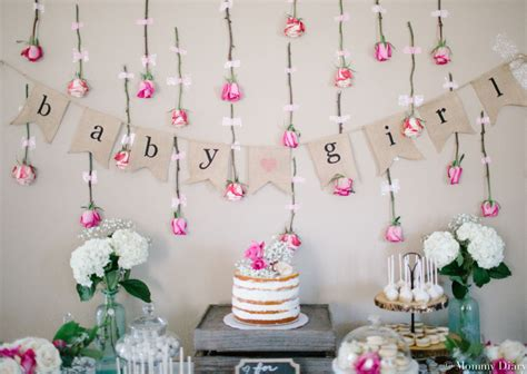 floral decorations rustic floral baby shower for baby girl mommy diary