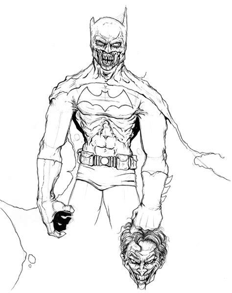 Zombie Batman Coloring Pages | zombie batman coloring page random pinterest batman