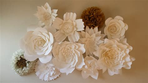How To Make Paper Wall Flowers - paper flower wall backdrop weddingbee