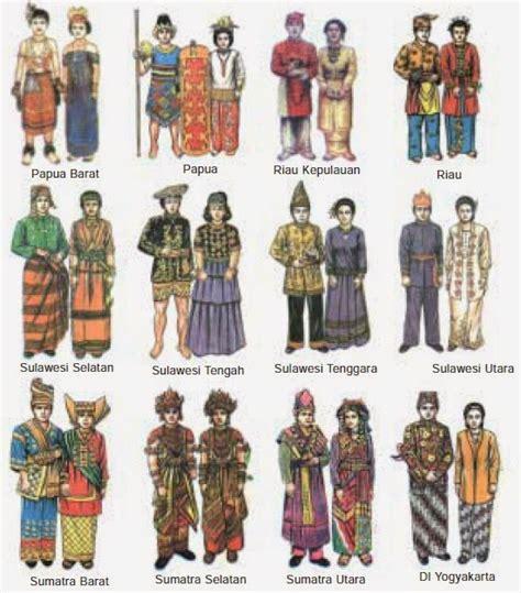 daftar lengkap nama gambar  asal pakaian adat  indonesia