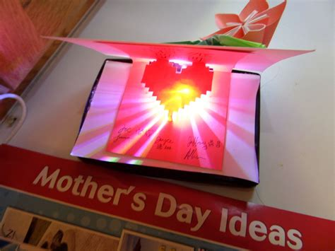 led card template light up pop up card origami lights and cards