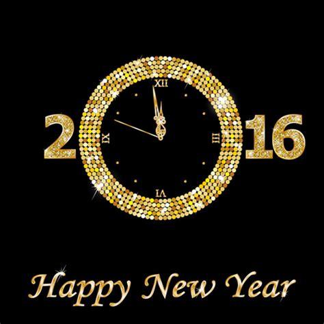 new year golden week 2015 happy new year 2016 golden clock vector vector festival