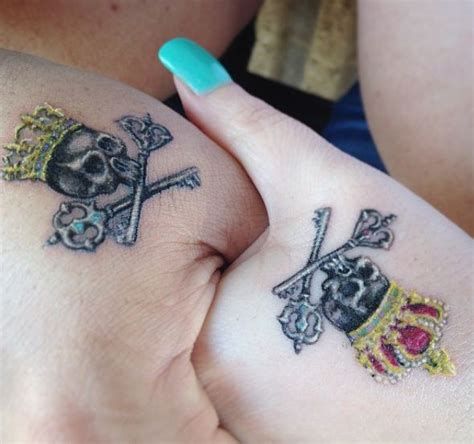 queen crown tattoo on hand 50 adorable king and queen tattoos for couples 2017