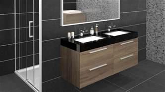 Incroyable Configuration Salle De Bain #1: meuble-de-salle-de-bain-azzura-double-vasque-contemporaine-noire-Walnut-laque-mobilierbain-xl.jpg
