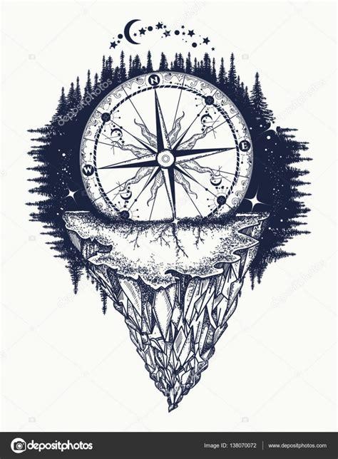 山古董指南针和风玫瑰纹身艺术 图库矢量图像 169 intueri 138070072