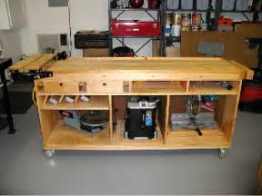 Simple Wooden Work Bench Plans by Woodwork Mobile Workbench Pdf Plans