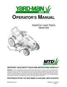 yard man lawn mower 604 user s guide manualsonline com