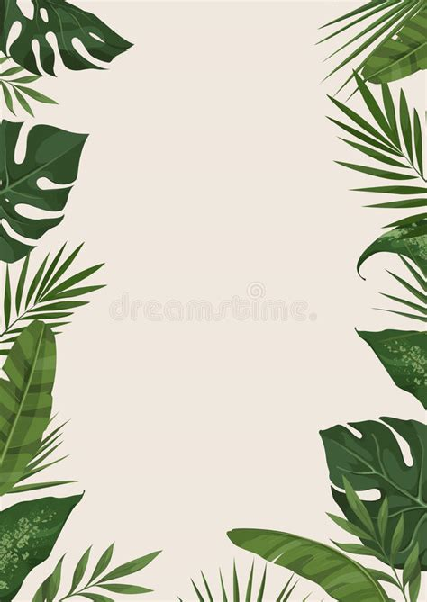 tropical card template tropical template stock vector illustration of palm
