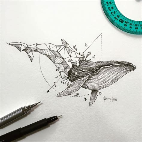tattoo geometric drawing geometric beasts collection beast album and collection