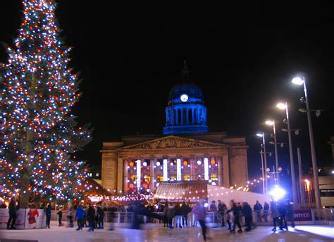 christmas in nottingham market lights switch on tree