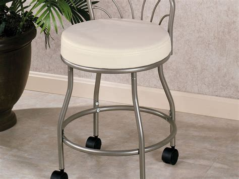 Vanity Stools With Wheels by Bathroom Vanity Stool With Wheels Home Design Ideas