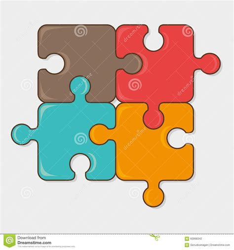 layout puzzle vector puzzle game design stock vector image 60998342