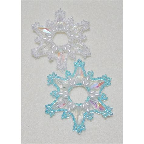 snowflake 14 beaded ornament pattern bead patterns by