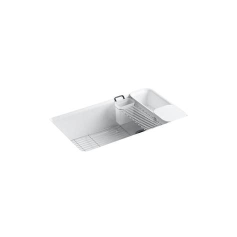 kohler sink accessories home depot kohler riverby undermount cast iron 33 in 5 hole single
